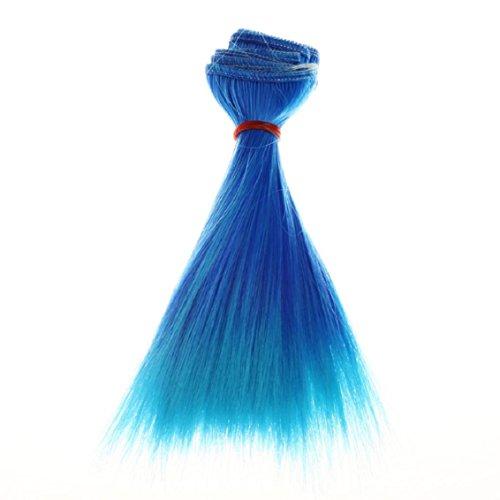 Hair Wigs for Women, Lookatool Fashion 15 Cm Wholesale Straight Hair Hair DIY / BJD Wig Doll (C)