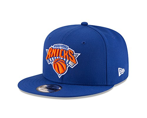 NBA New York Knicks Adult Men NBA 9Fifty Team Color Basic Snapback Cap,OSFA,Royal