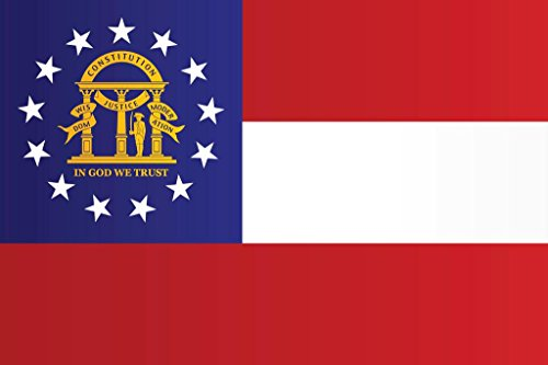 State Flag Poster Banner - Georgia State Flag Poster 24x36 inch