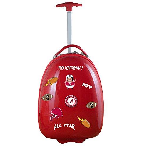 Denco NCAA Alabama Crimson Tide Kids Lil' Adventurer Luggage Pod, Red ()