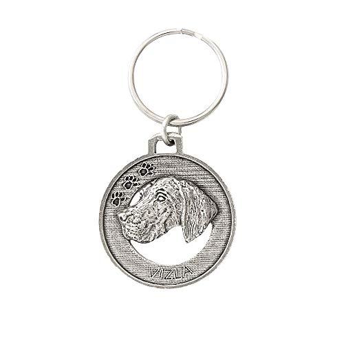 Vizsla Dog Pewter Key Chain, Key Fob, Key Ring, Gift, D174KC