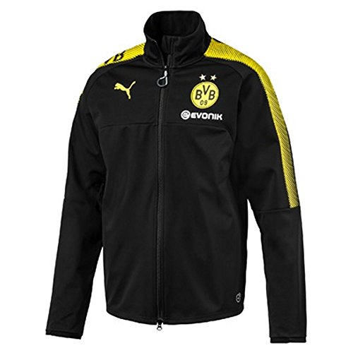 2017-2018 Borussia Dortmund Puma Softshell Training Jacket (Black)