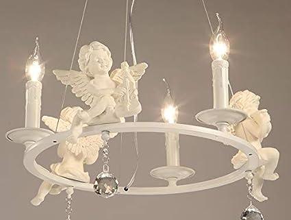 Plafoniere Con Lampadina A Vista : Pendente lampadari plafoniera luce sospensione moderna con angeli