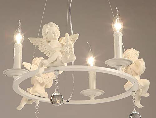 Pendente lampadari plafoniera luce sospensione moderna con angeli