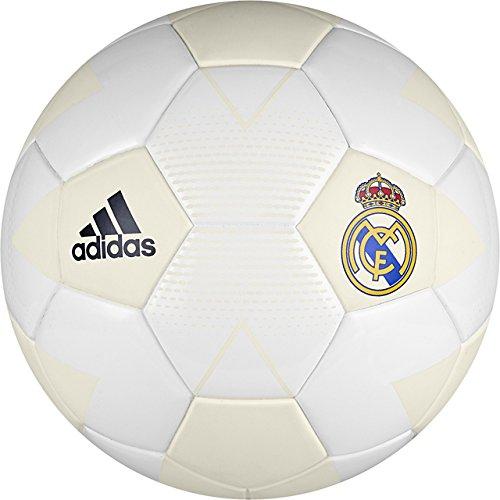 (adidas Spanish Primera Liga Real Madrid Soccer Ball, White, 5)