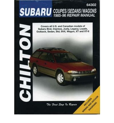 - [(Subaru Impreza, Legacy, Justy, XT, SVX, Brat and 1.6, 1.8 L-series (1985-96))] [Author: Chilton] published on (January, 1997)