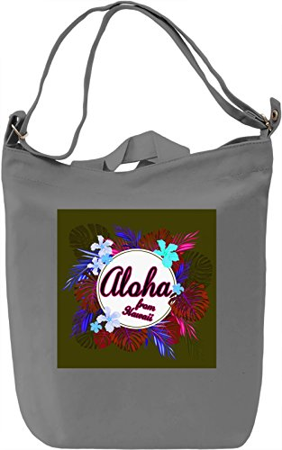 Aloha From Hawaii Borsa Giornaliera Canvas Canvas Day Bag| 100% Premium Cotton Canvas| DTG Printing|