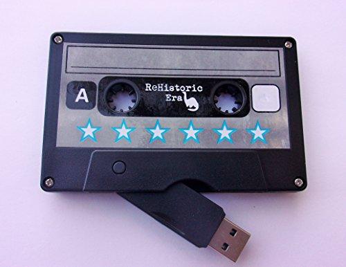 ReHistoric Era Cassette Tape USB Stick Flash Drive, 8 GB, 2.0 USB-STAR Design, Data Storage, Flash Drive, Jump Drive, Computer Data, Music Storage, Picture Storage (Christmas Flash Drive)
