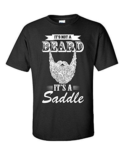 JJlinge-It-S-Not-A-Beard-It-S-A-Saddle-T-Shirt-Unisex-Tshirt-Black