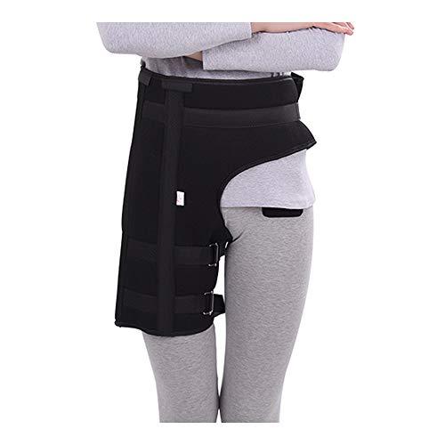 Groin Brace Hip Flexor Immobilizer Groin Injury Thigh Splint Hamstring Brace Compression Adjustable Wrap for Quadriceps Thigh Muscles, Sciatica Pain Relief (M)