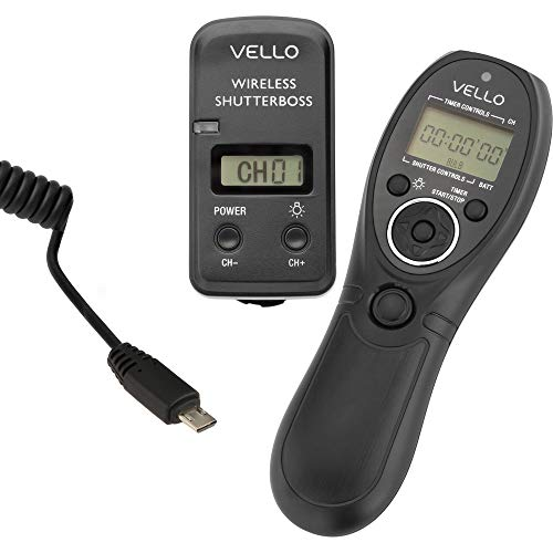 (Vello Wireless ShutterBoss III Remote Switch with Digital Timer for Select Sony Cameras)