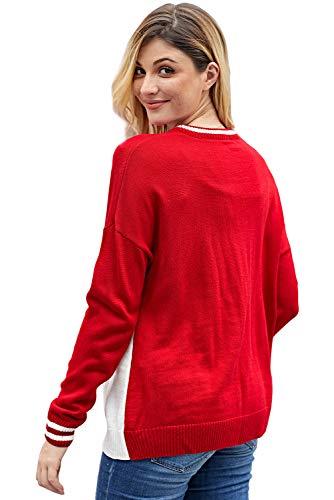 1 Missrui Maglione Red Missrui Donna Maglione Donna xFzx6Y