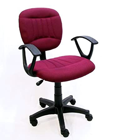 Superb The Green Group Burgundy Fabric Office Chair W Arms Gas Lift Great Student Or Computer Chair Machost Co Dining Chair Design Ideas Machostcouk