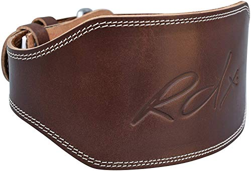 RDX Weight Lifting Belt 6'' Cow Hide Leather Double Prong Back Support Gym Exercise Bodybuilding Training Workout by RDX (Image #8)