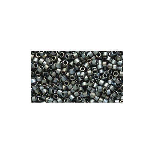 - Miyuki Delica Seed Bead 11/0 DB307, Silver Gray Matte, 9-Gram/Pack