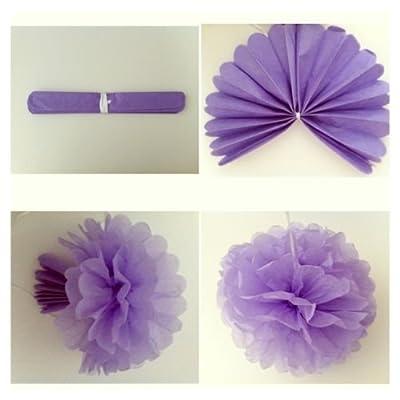 Purple Bridal Shower Decorations Set- Bride To Be Banner White Lavender Purple Big Size Tissue Paper Flower Pom Poms Latex Balloons for Lavender Purple Wedding Party Decor/Bachelorette Party: Toys & Games