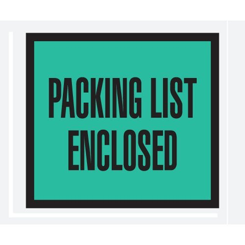 4 1/2 x 5 1/2 Green Packing List Enclosed Full Face (PL404) Category: Packing List Envelopes by Box - Packing Full Face Green