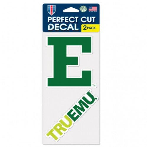 "WinCraft NCAA Eastern Michigan University Perfect Cut Decal (Set of 2), 4"" x 4"""