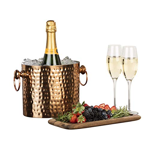 Chic Chill Handcrafted Artisan 1 bottle Champagne and Wine Chiller (Copper)