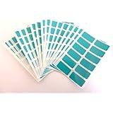 200 étiquettes, 25X12mm rectangle, turquoise, COULEUR CODE STICKERS, auto-adhésif en couleur étiquettes