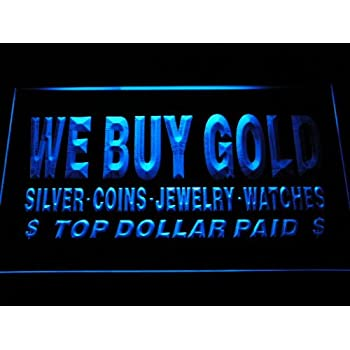 j111-b We Buy Gold Jewelry Shop Lure Neon Light Sign