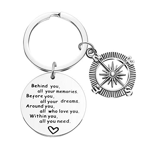 2019 Graduation Gifts Keychains-Behind You, All Your Memories; Before You, All Your Dreams (Style b)