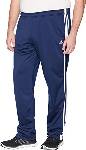 adidas Men's Big & Tall Essentials 3-Stripes Regular Fit Tricot Pants Collegiate Navy/White 1 Large 34 Tall 34 by adidas (Image #1)