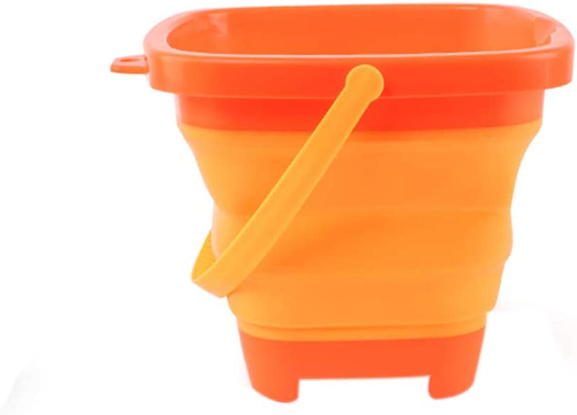 Gardening Blue KUSUOU Pail Buckets Silicone Collapsible Buckets -Foldable //Portable Multifunctional Beach Bucket 2.5L Toy For Kids Summer Party Playing-For Beach Camping Fishing Picnics