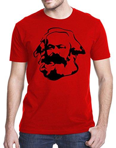 Karl Marx T-Shirt, Large, Red