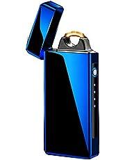 معلم ولاعة اللهب الكبيرة في ولاعة كهربائية USB قابلة للشحن ضد الرياح فائقة القوة (اللون )