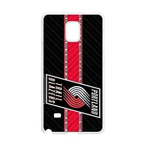 Portland Trail Blazers NBA White Phone Case for Samsung Galaxy Note4 Case