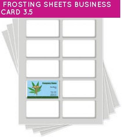 Kopykake Frosting Sheets 24 sheets per pack (FROSTING SHEETS BUSINESS CARD 3.5)