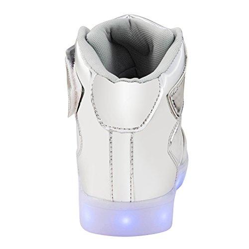 Femmes La Sport Changer 7 Cuir Haute Lumineux Espadrille Hommes De Chaussures En Argent Des Baskets Saguaro Couleur Usb qrgwxr