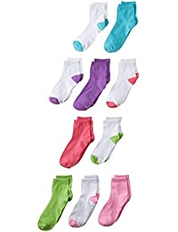 Girls' Big Ankle EZ Sort Socks, 10-Pack