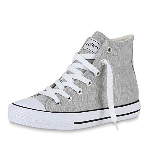 Übergrößen Sneaker Hellgrau Damen Unisex Weiss High VITA Herren SCARPE WwYaqpUn