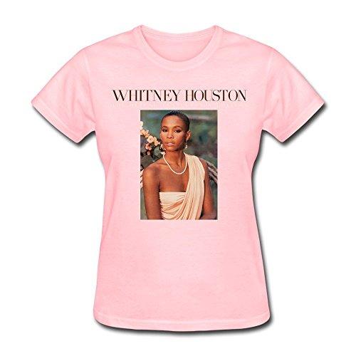 SALA Women's Whitney Houston Whitney Houston Poster T-Shirts XL Pink