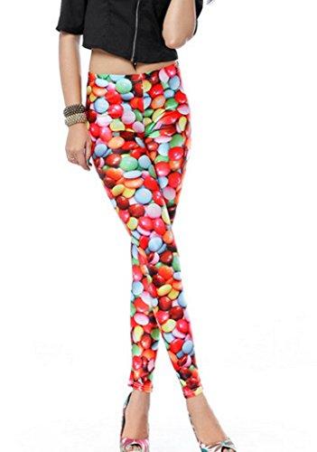 58 Legging Sexy Haute 84cm Extensible Bonbon Optique Femme Imprimé Taille Skinny Aivtalk fille Multicolore Mince Élastique Pantalon De Tour Slim TFxdYYzq