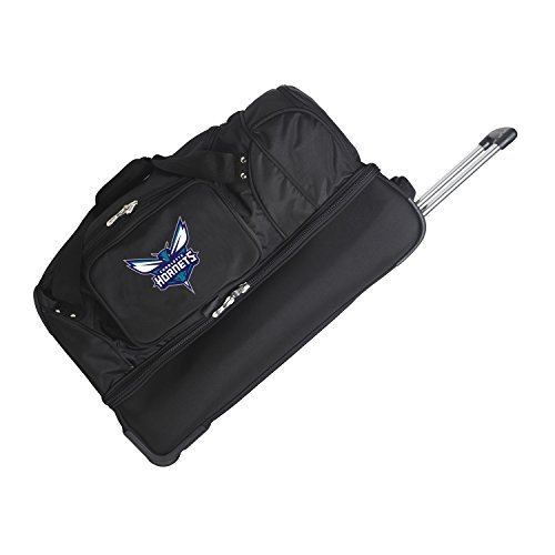 NBA 27'' 2-Wheeled Travel Duffel NBA Team: New Orleans Hornets by Denco Sports Luggage