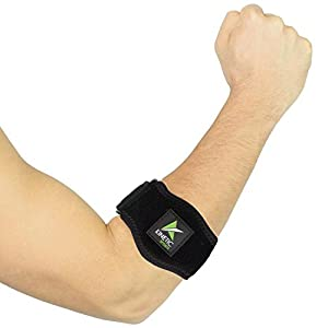 Tennis Elbow Brace with Compression Pad(2 pack) – adjustable straps – Best support for Tennis & Golfers Elbow, Tendinitis, Lateral & Medial Epicondylitis pain – Bonus wrist Sweatband included
