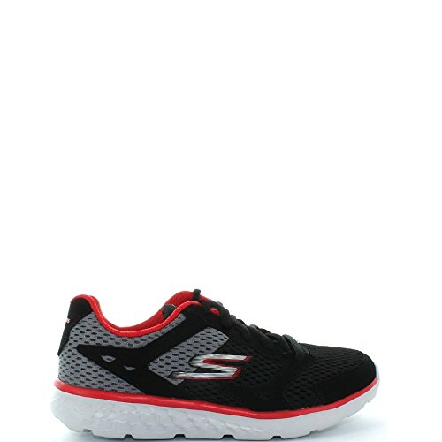 SKECHERS KIDS Boy's Go Run 400 (Little Kid/Big Kid) Black/Grey/Red Shoe