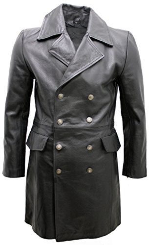 Mens 3/4 Length Leather Coat - 5
