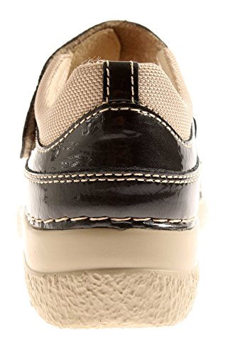 Ballerine Lupe Comode Scarpette Basse In Pelle Sottopiede Confort Grafite Comfort