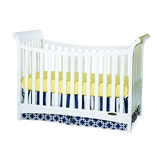 Grow Sleigh Crib (Child Craft Coventry 3-in-1 Convertible Crib, Matte White)