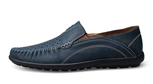 Tda Mode Andas Perforerat Läder Loafers Driver Klänning Affärs Båt Skor Blå