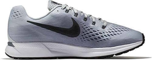 Nike Air Zoom Pegasus 34 Size 11.5 Mens Running Pure Platinum/Anthracite-Cool Grey-Black Shoes