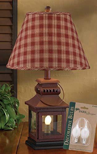 6 Light Sturbridge (Park Designs Iron Lantern Lamp with Night Light, Wine Sturbridge 12