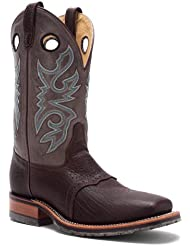 Double H Mens Chocolate Wide Square Toe ICE Roper Boot DH3575