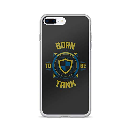 iPhone 7 Plus/8 Plus Case Anti-Scratch Gamer Video Game Transparent Cases Cover Born to Be Tank Gaming Computer Crystal Clear