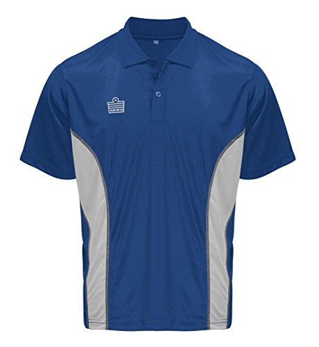 Admiral Argo Soccer Coach Sideline Polo Shirt, Royal/Silver, Adult XX-Large