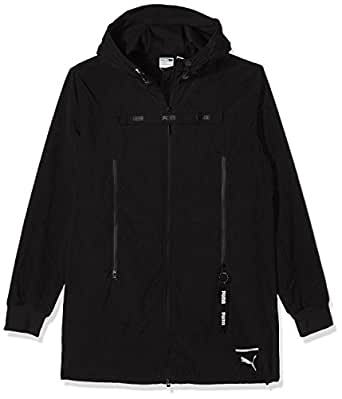 PUMA Men's Evo Long Outerwear Jacket, Black, S